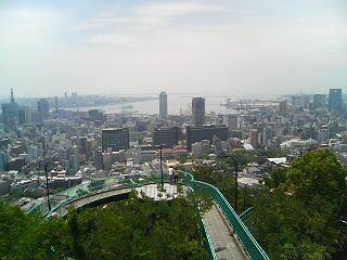 ビーナスブリッジからの神戸港