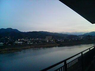 筑後川流域の夜明け