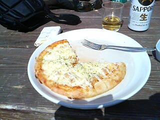 ピザ食いかけ