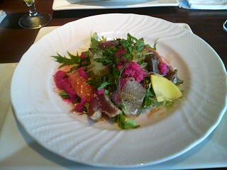 魚介類のサラダ