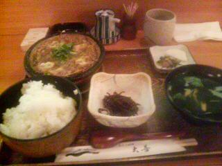柳川風定食