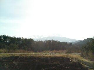 逆光の御嶽山