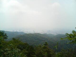 山頂からの神戸港