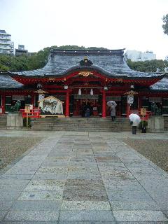 生田神社に合格祈願