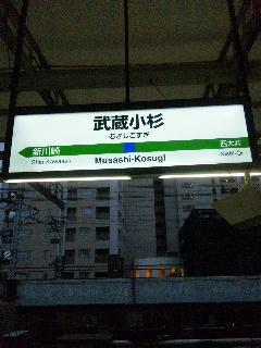 初利用武蔵小杉駅