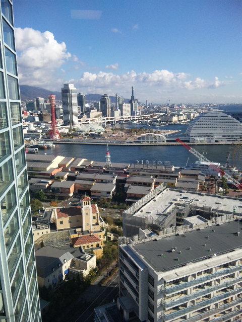神戸港一望