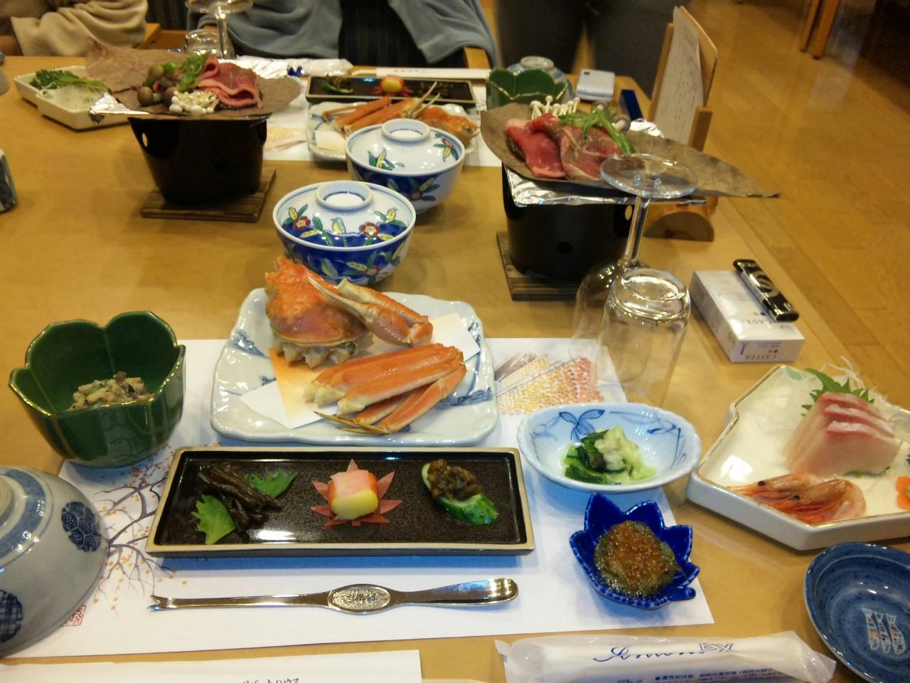 保養所の夕食2