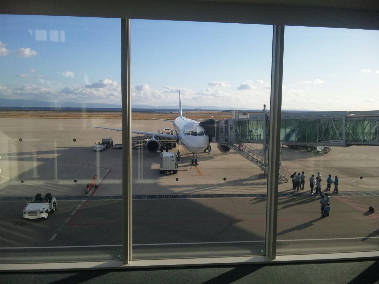 快晴の神戸空港から