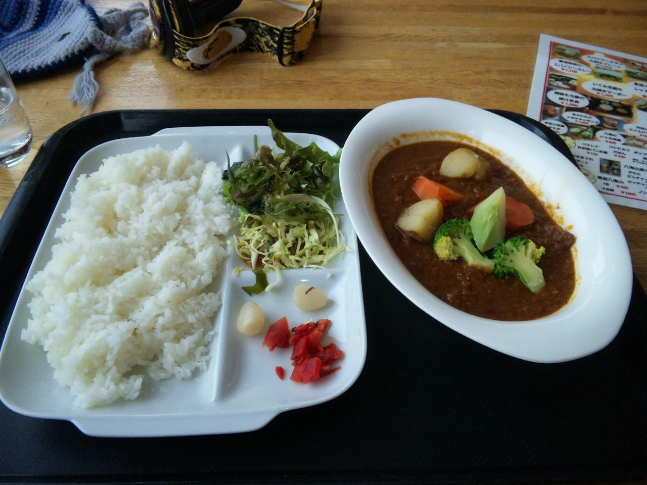 雪室野菜のスパイシーカレー