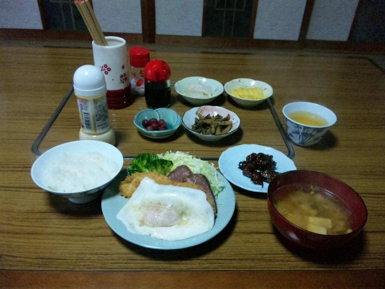 民宿の朝飯