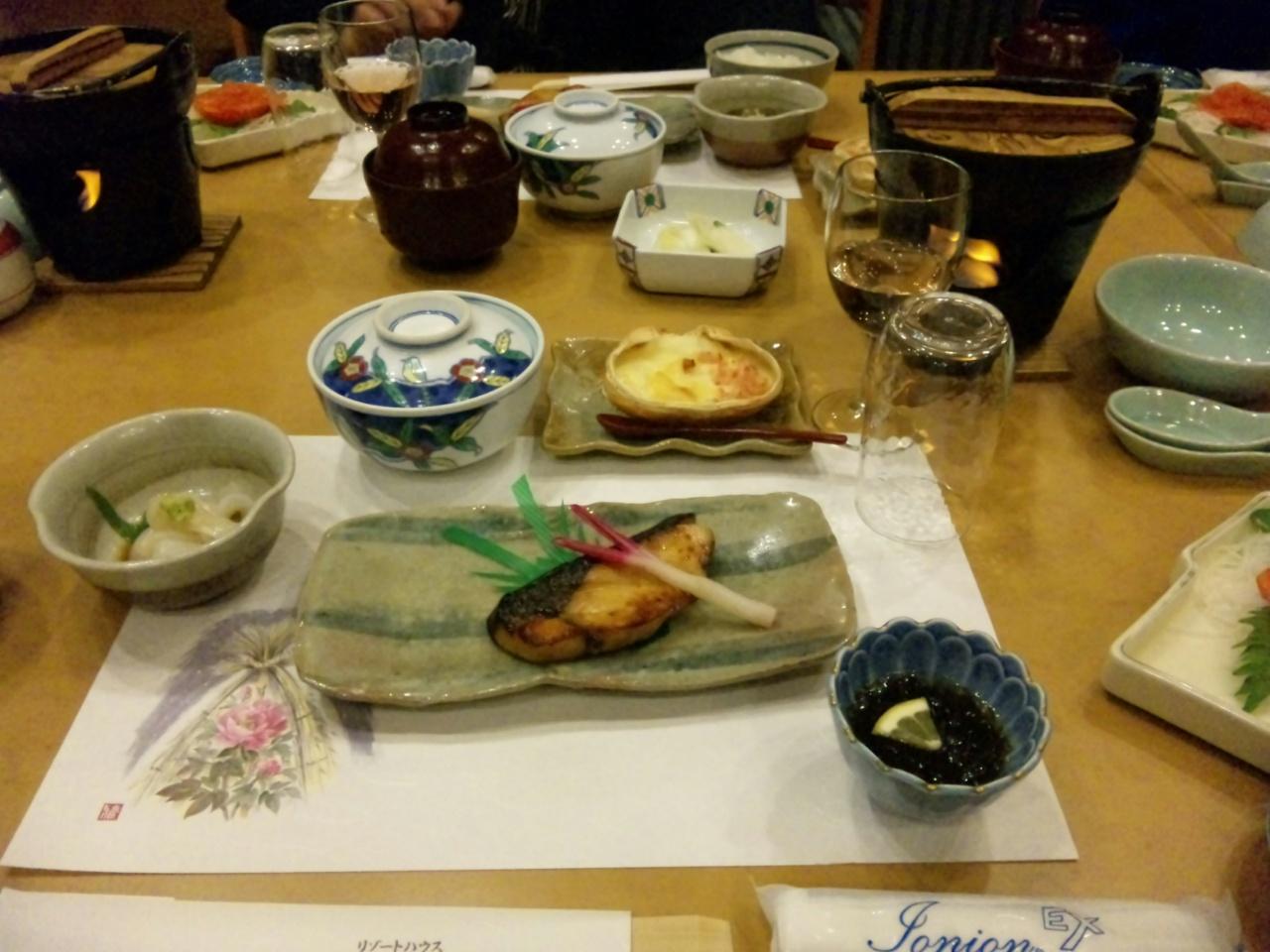 保養所の夕飯1