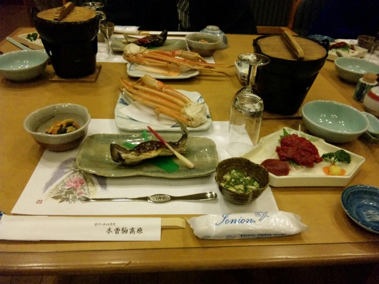 保養所の夕飯2