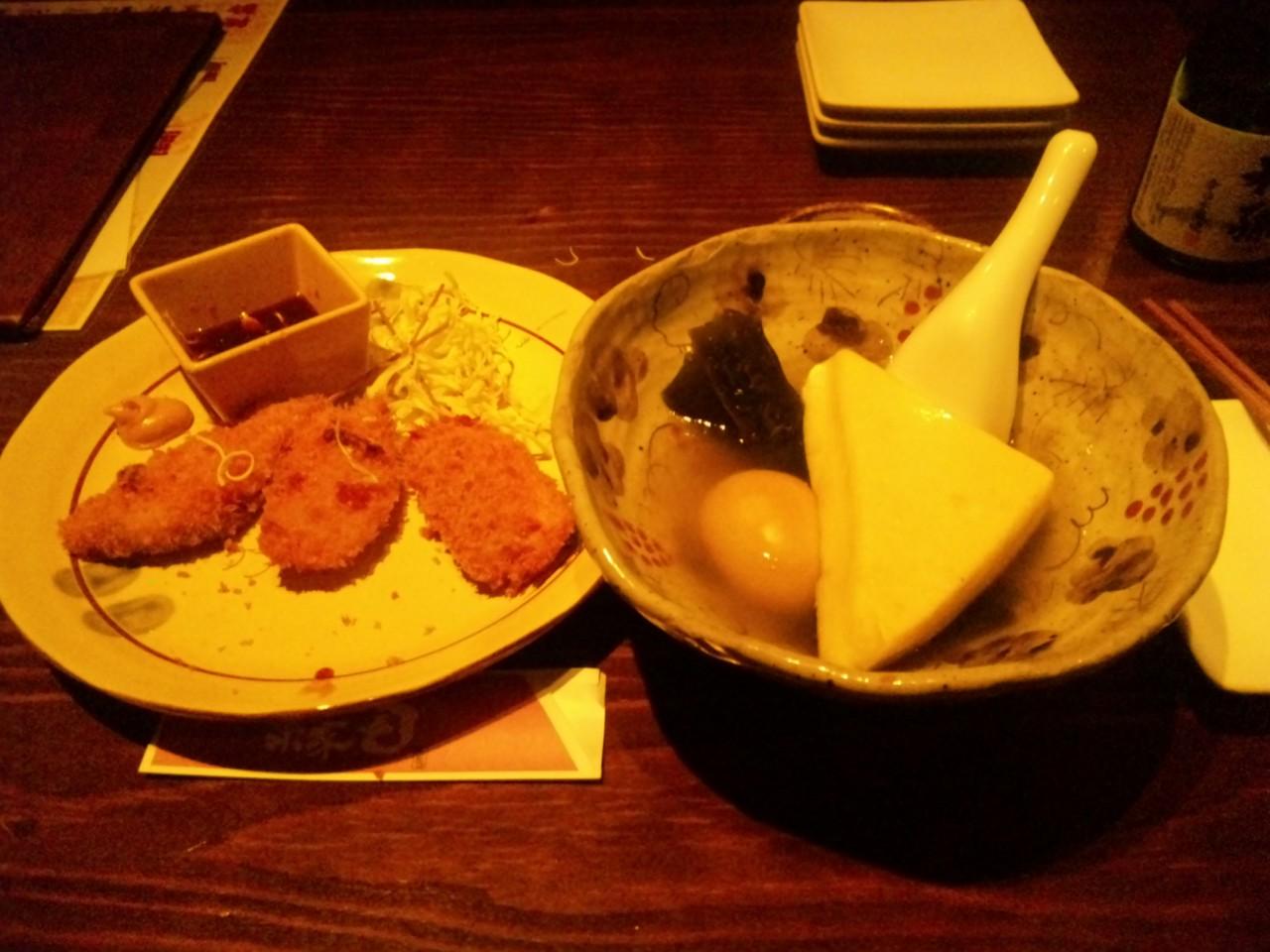 関内で夕飯