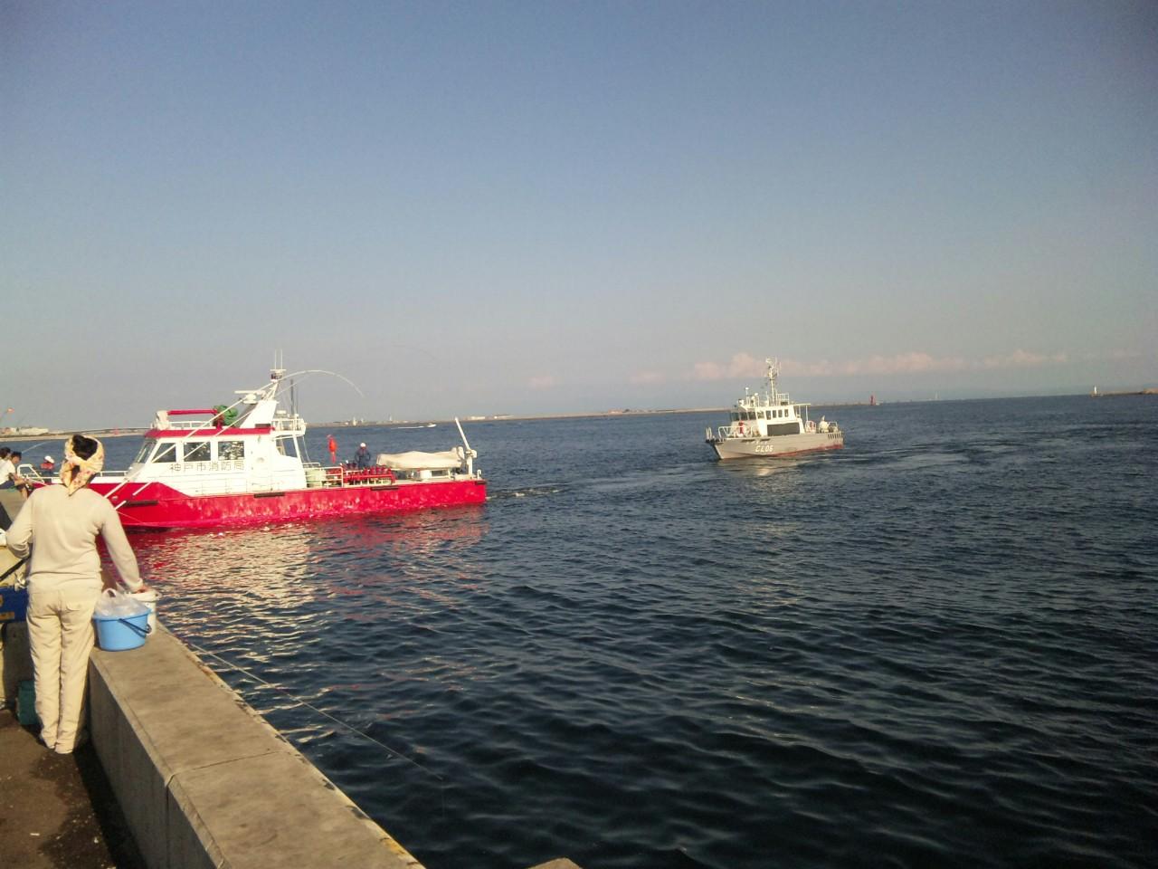 殊勲の警察艇