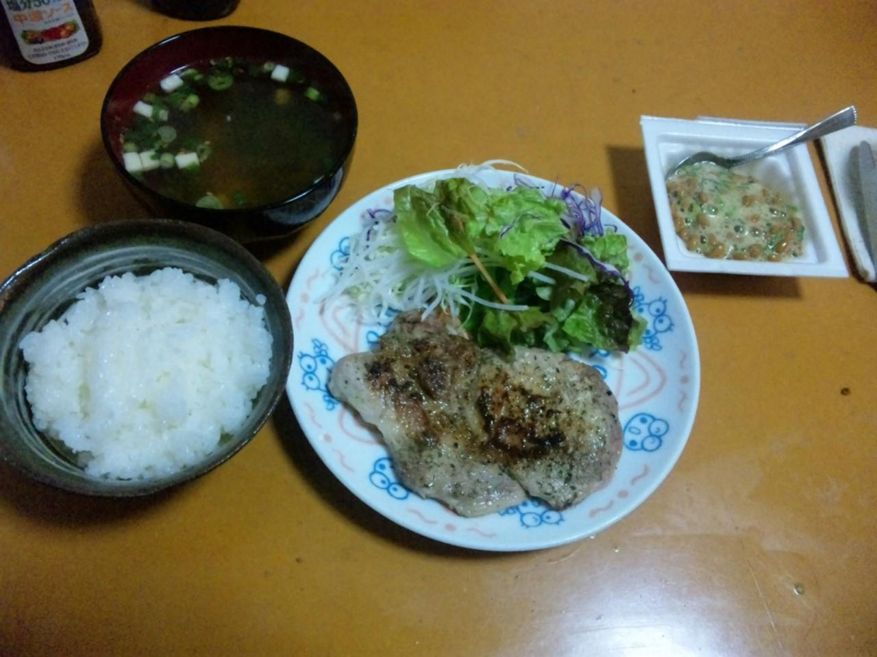 久しぶりの自作夕飯