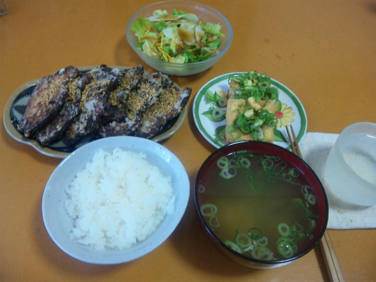 久々自作夕飯