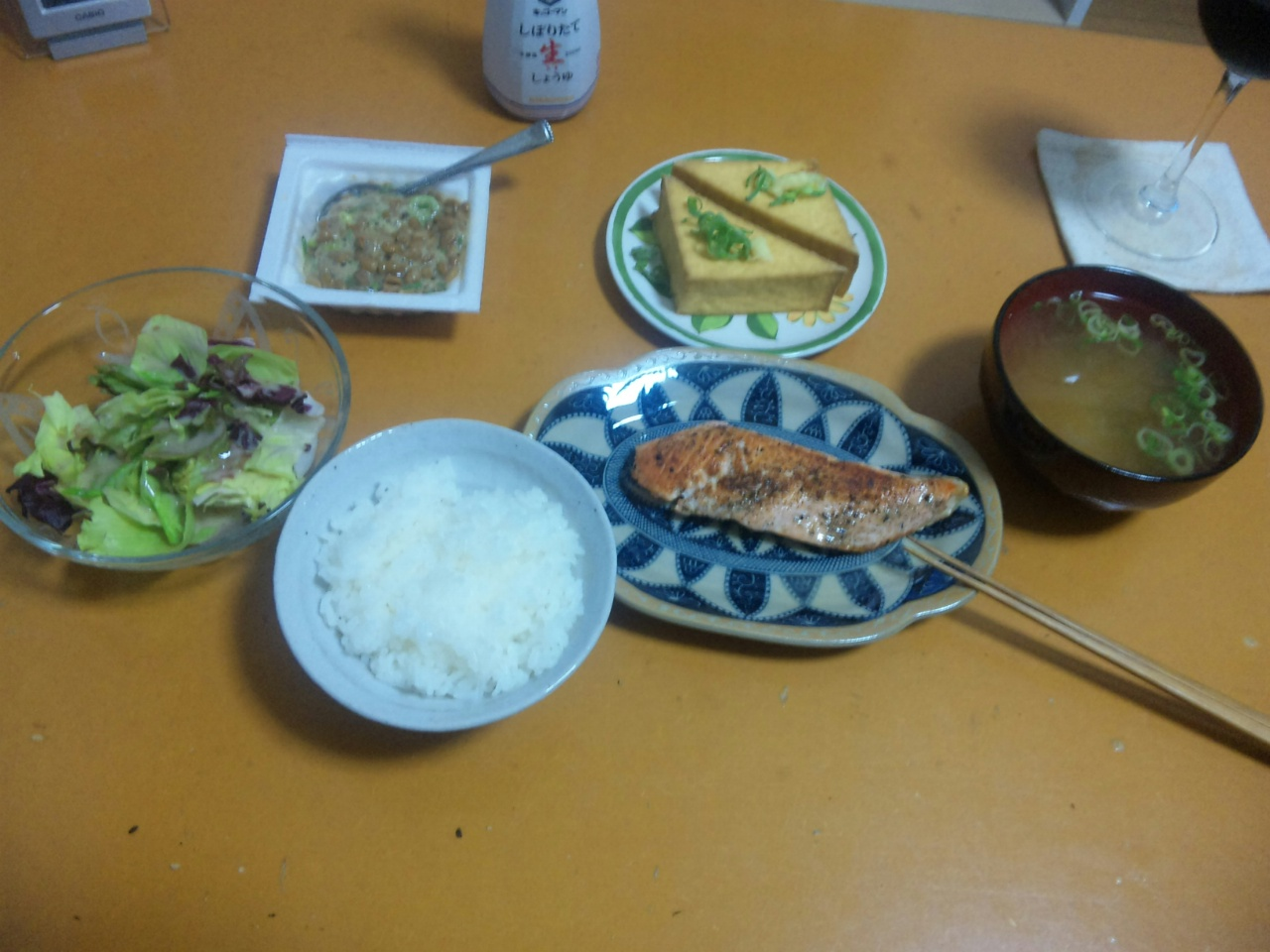 日曜日の自作夕飯