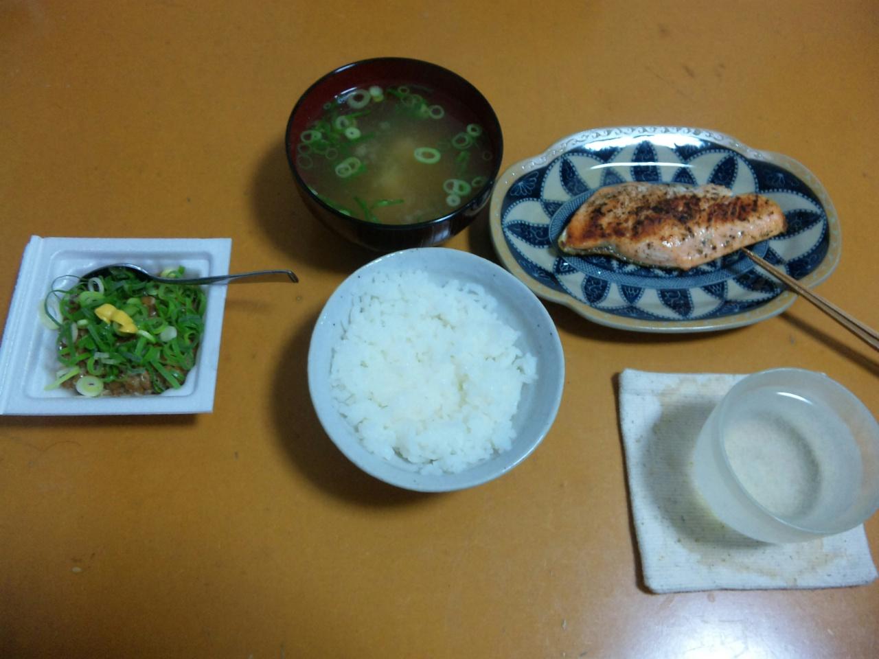質素な夕飯