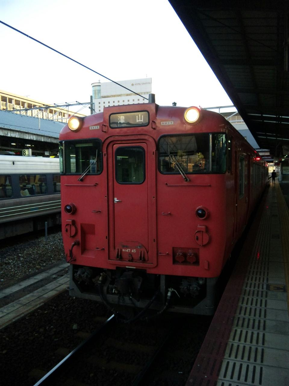 岡山からローカル線に乗って