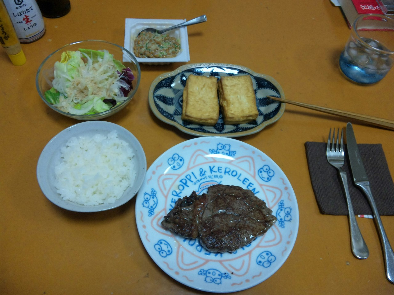 本日の自作夕飯